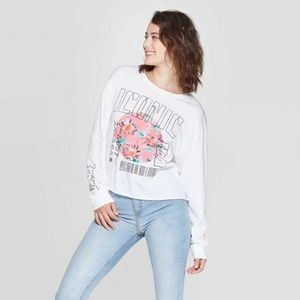 Women's Long Sleeve Iconic Cropped Graphic Tee